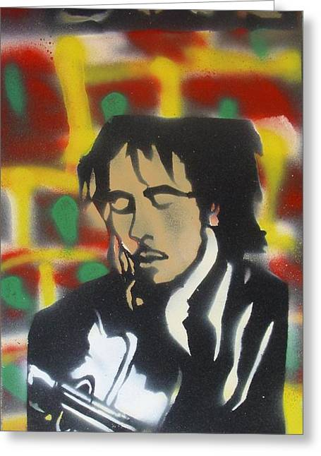 First Amendment Greeting Cards -  Marley Soul Guitar Greeting Card by Tony B Conscious