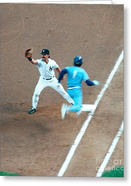 Don Mattingly Greeting Cards -  Mattingly Greeting Card by Karl Voss