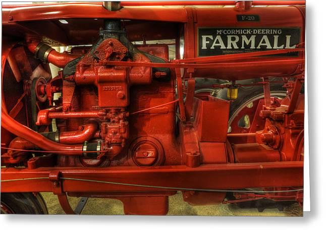 Mccormick Tractor - farm equipment  - nostalgia - vintage Greeting Card by Lee Dos Santos