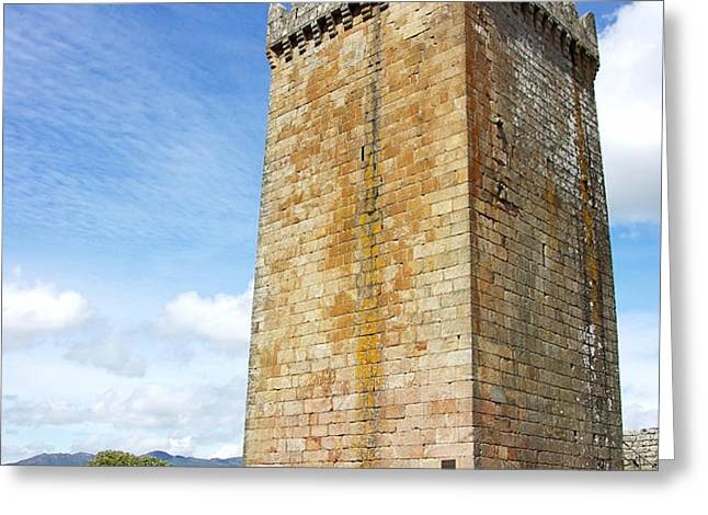 Melgaco castle  in the north of Portugal Greeting Card by Inacio Pires