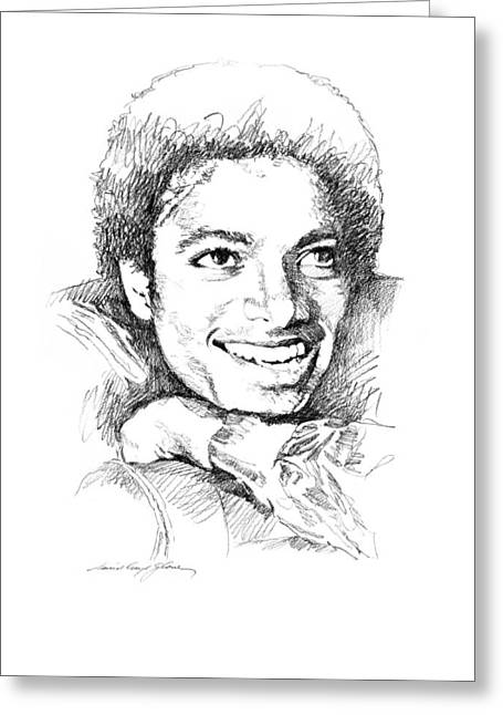 Michael Drawing Drawings Greeting Cards -  Michael Jackson Smile Greeting Card by David Lloyd Glover