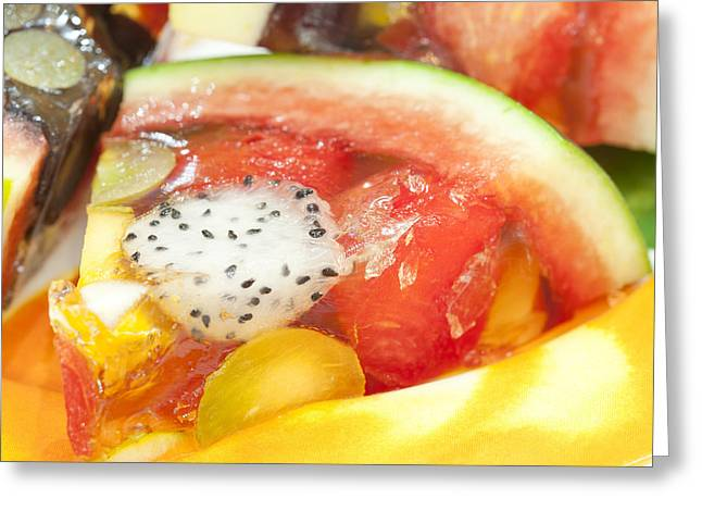 mixed fruit watermelon Greeting Card by Anek Suwannaphoom