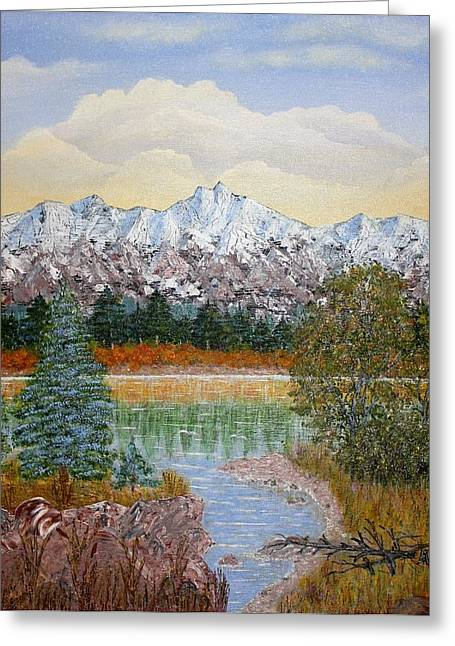 Landscape With Mountains Greeting Cards -  Mountain Fall Greeting Card by Georgeta  Blanaru