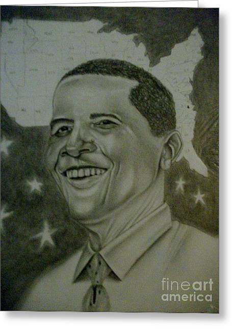 President Obama Greeting Cards -  Mr. President  Greeting Card by Handy