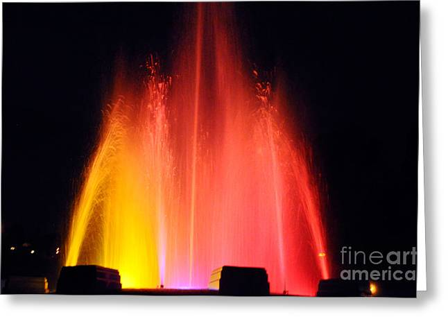 Bruster Greeting Cards -  Mulholland Fountain Greeting Card by Clayton Bruster