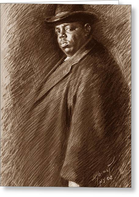 The Drawings Greeting Cards -  Notorious B I G  Greeting Card by Ylli Haruni