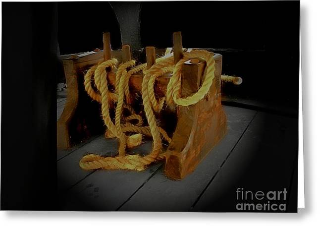 Wooden Ship Greeting Cards -  Notorious the Pirate Ship 2 Greeting Card by Blair Stuart