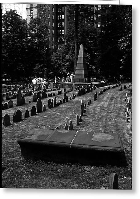 Old Boston Cemetery Greeting Card by Thomas D McManus