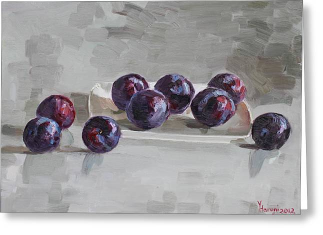Plum Greeting Cards -  Plums Greeting Card by Ylli Haruni
