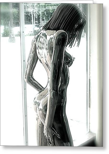 Science Sculptures Greeting Cards -  Prior Evolution of Eve figure 4  Greeting Card by Greg Coffelt