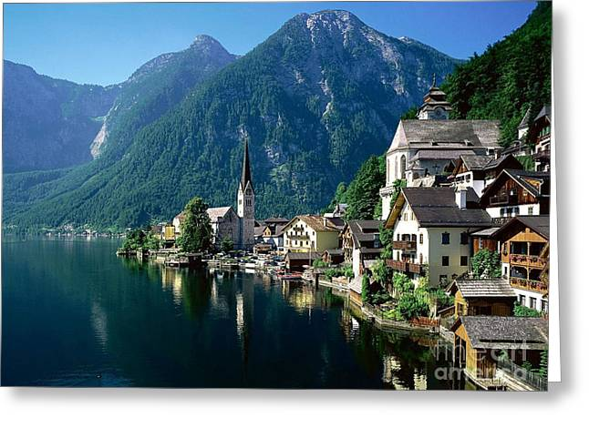 Riverfront Greeting Cards -  Riverfront  Reflection Austria Greeting Card by Heinz G Mielke