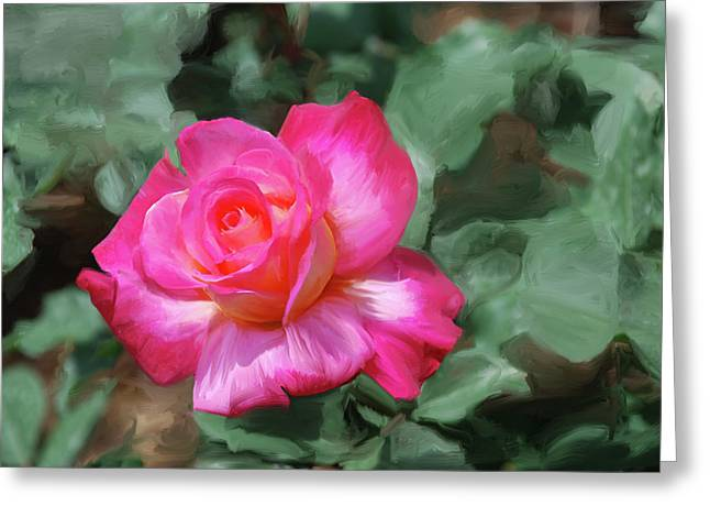 Green Ocean With White Water Greeting Cards -  Rose Painting  Greeting Card by Don  Wright