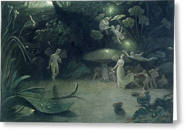 Summer Scenes Greeting Cards -  Scene from A Midsummer Nights Dream Greeting Card by Francis Danby