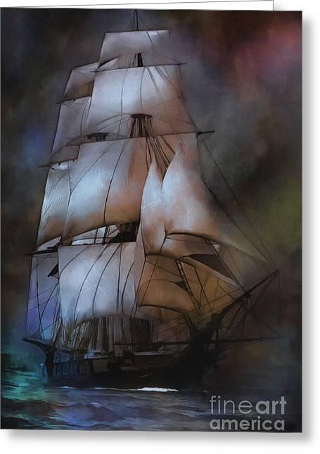Pirate Ships Greeting Cards -  Sea stories.... Greeting Card by Andrzej Szczerski