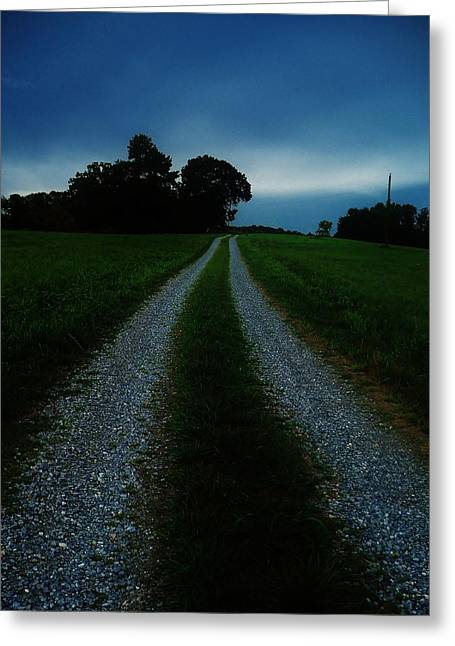 Stormy Road  Greeting Card by Maria Blumberg