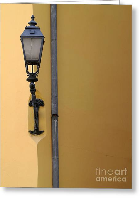 Czechia Greeting Cards -  Street lamp Greeting Card by Odon Czintos