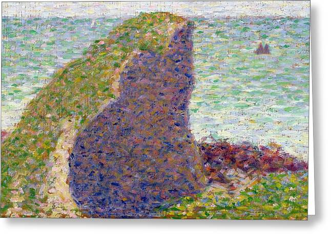 Georges Pierre Greeting Cards -  Study for Le Bec du Hoc Greeting Card by Georges Pierre Seurat