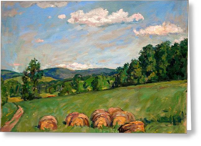 Thor Paintings Greeting Cards -  Summer Idyll Berkshires Greeting Card by Thor Wickstrom