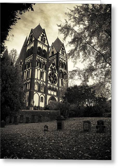 Cathedral Limburg Greeting Cards -  The Catholic Cathedral of Limburg Greeting Card by Natalia Kempin