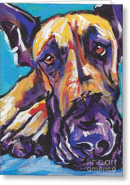 Puppies Greeting Cards -  The Great Danish Greeting Card by Lea