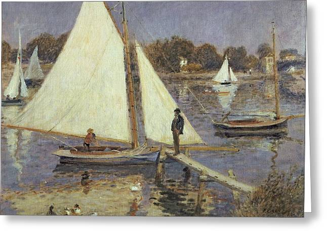 Seine Paintings Greeting Cards -  The Seine at Argenteuil Greeting Card by Pierre Auguste Renoir