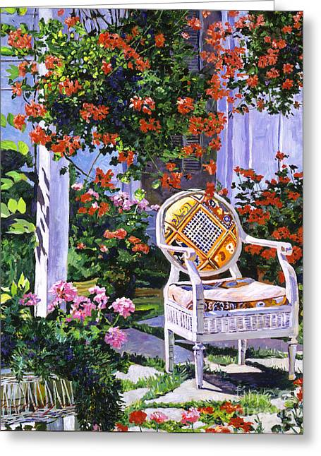 Wicker Furniture Greeting Cards -  The Sunchair Greeting Card by David Lloyd Glover