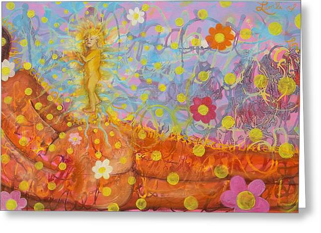 Anne Cameron Cutri Greeting Cards -  Theology of the Body Greeting Card by Anne Cameron Cutri