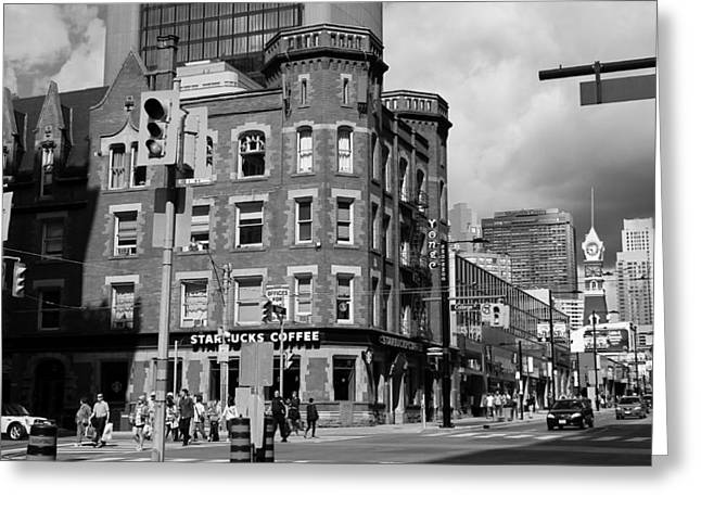 College Street Greeting Cards -  Toronto Street Scenes 1 Greeting Card by Andrew Fare