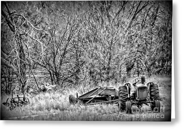 Tractor Days Greeting Card by Michelle Frizzell-Thompson