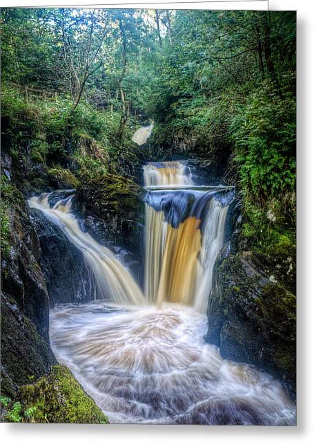 Current River Greeting Cards -  Triple Pecca Falls Greeting Card by Chris Frost