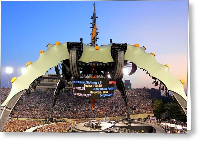 U2 Photographs Greeting Cards -  U Two Tour Nashville TN Greeting Card by Monica Lewis