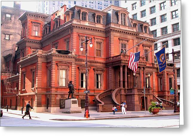Abolition Greeting Cards -  Union club of Philadelphia Greeting Card by Carl Purcell