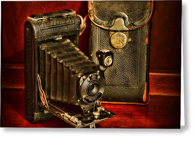 620 Greeting Cards -  Vintage Pocket Kodak Camera Greeting Card by Paul Ward