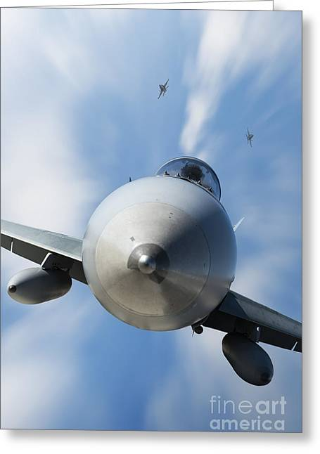 Fa-18 Greeting Cards -  Warbirds Greeting Card by Michael Howard