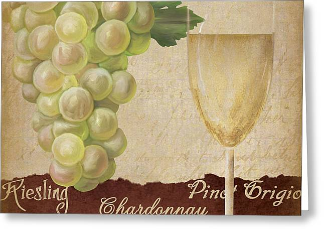 White wine collage Greeting Card by Grace Pullen