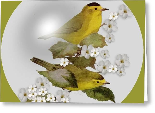 Warbler Digital Art Greeting Cards -  Wilson Warbler Greeting Card by Madeline  Allen - SmudgeArt