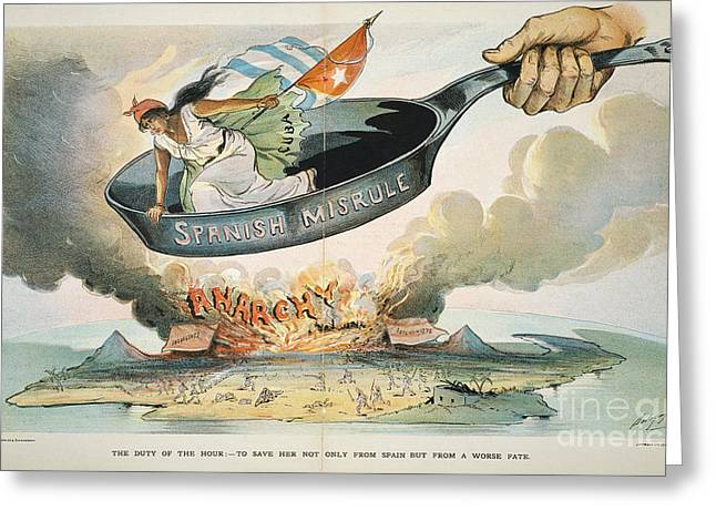 Puck Paintings Greeting Cards - Spanish-american War, 1898 Greeting Card by Granger