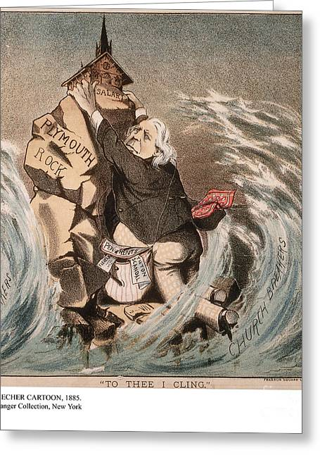 Adultery Greeting Cards - Beecher Cartoon, 1885 Greeting Card by Granger