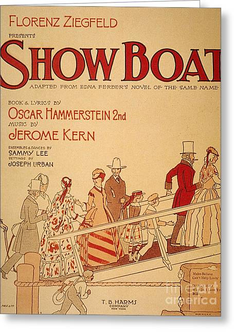 Broadway Musical Greeting Cards - Show Boat Poster, 1927 Greeting Card by Granger