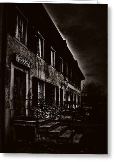 Evil House Greeting Cards - 009 - Gloom Greeting Card by Mimulux patricia no