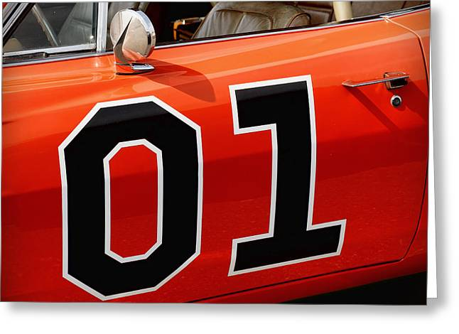 01 - The General Lee 1969 Dodge Charger Greeting Card by Gordon Dean II