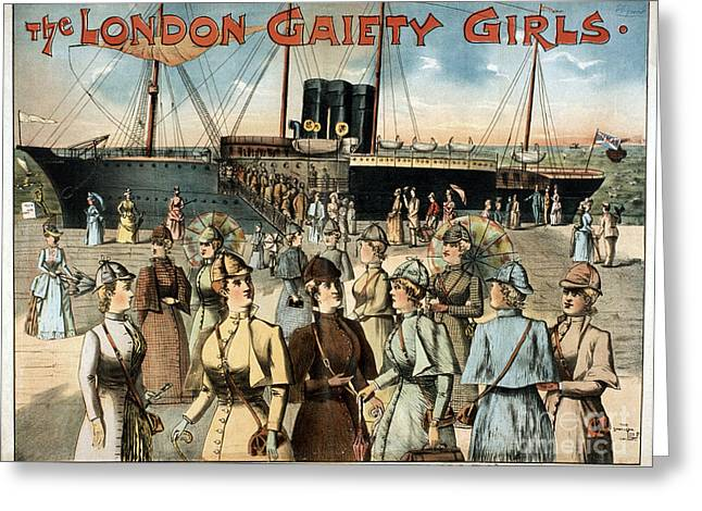Nyc Posters Paintings Greeting Cards - CHORUS GIRLS, c1891 Greeting Card by Granger