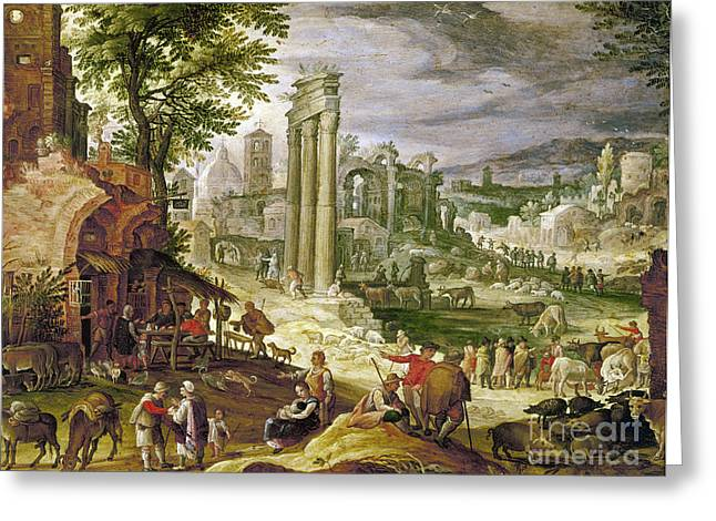 Pollux Greeting Cards - Roman Forum, 16th Century Greeting Card by Granger