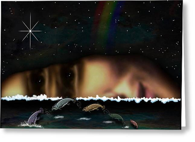 Etc. Digital Art Greeting Cards - 01904015col Greeting Card by Michael Yacono
