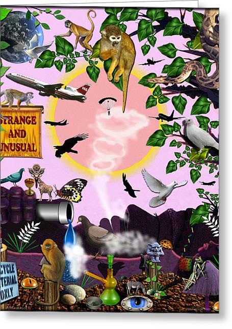 Etc. Digital Art Greeting Cards - 01904024col Greeting Card by Michael Yacono