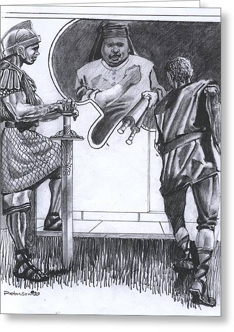 King James Version Greeting Cards - 028 Philip and the Ethiopian Eunich Featured Greeting Card by James Robinson