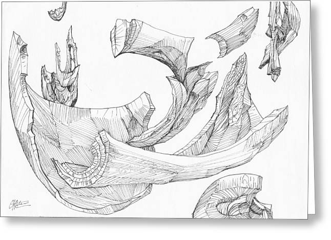 Organic Drawings Greeting Cards - 0511-15 Greeting Card by Charles Cater