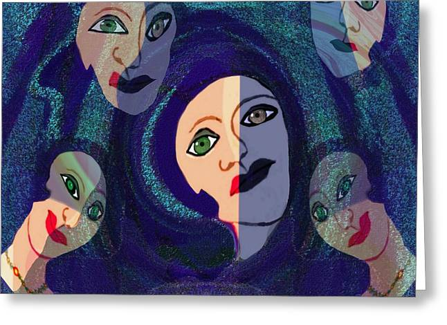Warp Greeting Cards - 061 -  The Women of Marseille   Greeting Card by Irmgard Schoendorf Welch