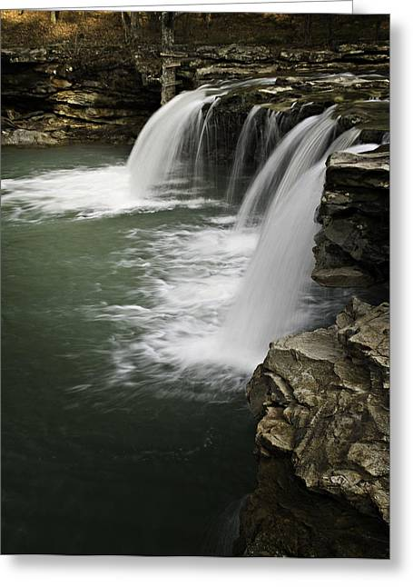Richland Creek Greeting Cards - 0804-0013 Falling Water Falls 4 Greeting Card by Randy Forrester
