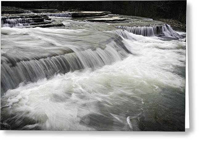 Richland Creek Greeting Cards - 0804-0113 Six Finger Falls 2 Greeting Card by Randy Forrester